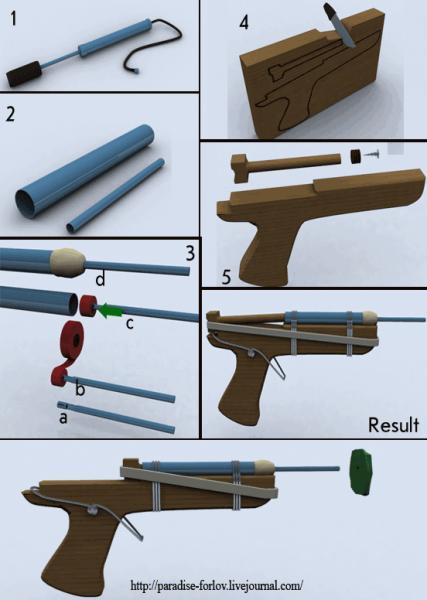 как сделать пистолет олайн